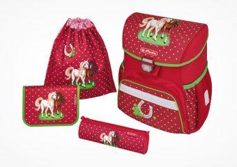 Herlitz Horses Schulranzen Set mit Pferde-Motiven für Mädchen